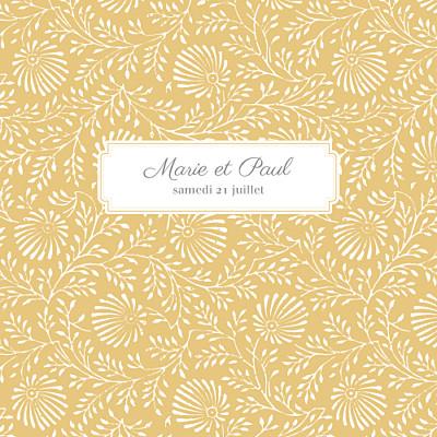 Faire-part de mariage Idylle (4 pages) pollen finition