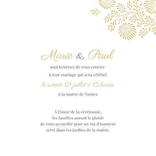 Faire-part de mariage Idylle (4 pages) pollen - Page 3