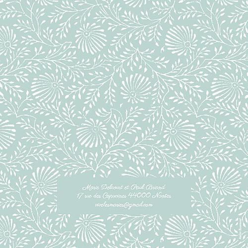 Faire-part de mariage Idylle (4 pages) vert d\'eau - Page 4