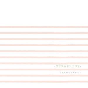 Faire-part de naissance fille marinière photo (4 pages) rose orange