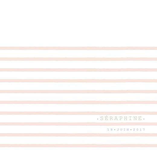 Faire-part de naissance Marinière photo (4 pages) rose orange