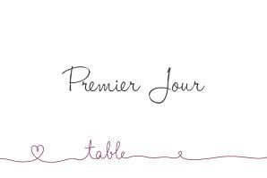 Marque-table mariage violet tendresse violet