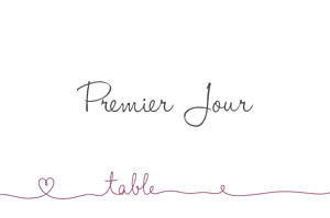 Marque-table mariage Tendresse violet