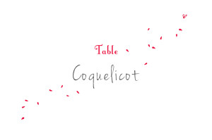 Marque-table mariage Bouquet rouge