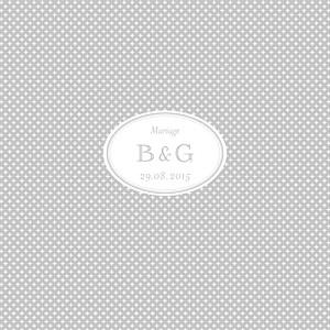 Faire-part de mariage Motif chic (4 pages) gris
