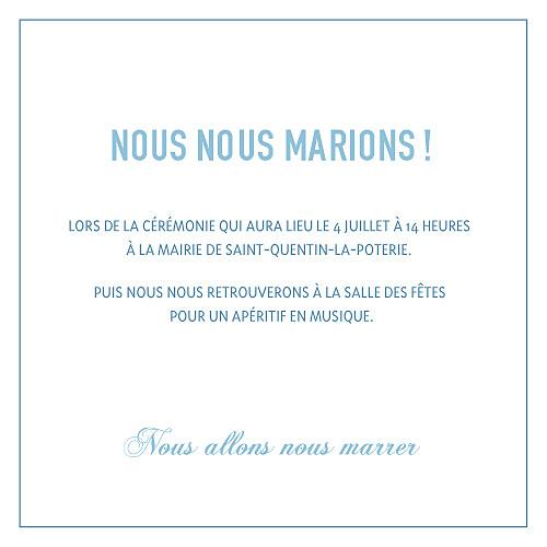 Faire-part de mariage Marrons-nous (4 pages) bleu foncé - Page 3