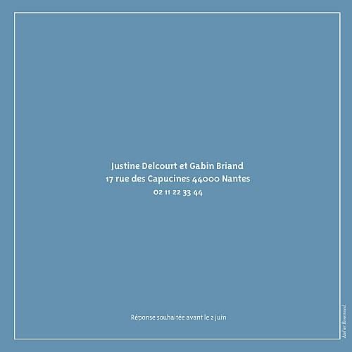 Faire-part de mariage Marrons-nous (4 pages) bleu foncé - Page 4