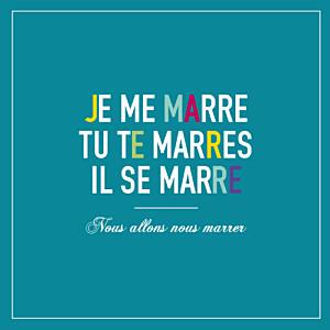 Faire-part de mariage Marrons-nous (4 pages) céladon