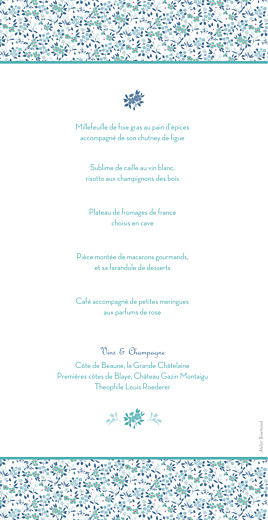 Menu de mariage Simplement liberty bleu - Page 2