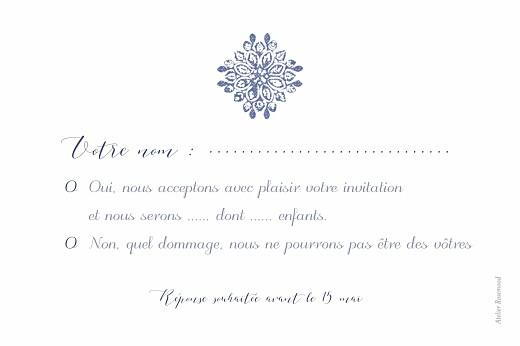 Carton réponse mariage Grâce blanc bleu - Page 2