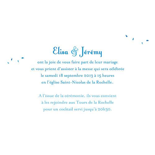 Faire-part de mariage Grand bouquet bleu - Page 3