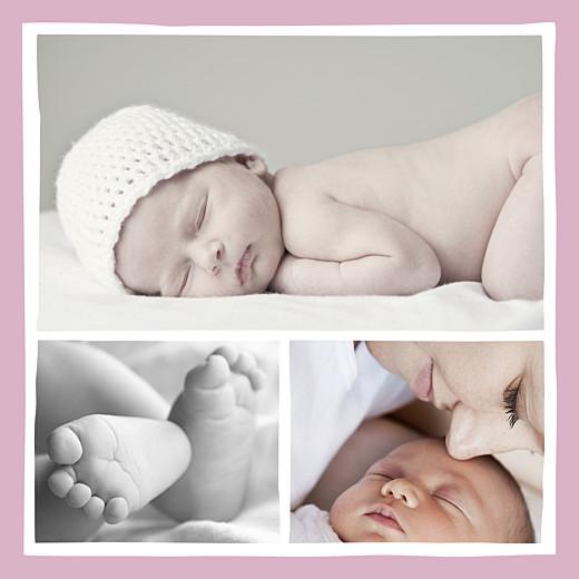 Faire-part de naissance Coquette 3 photos rose - Page 2