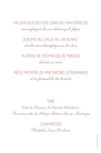 Menu de mariage Réjouissance blanc - Page 2