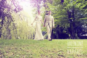 Carte de remerciement mariage Toi & moi (paysage) 3 photos blanc