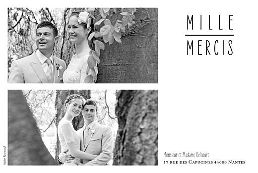 Carte de remerciement mariage Toi & moi (paysage) 3 photos blanc - Page 2