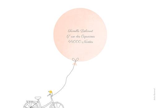Faire-part de naissance À bicyclette (2 enfants) photos corail - Page 4