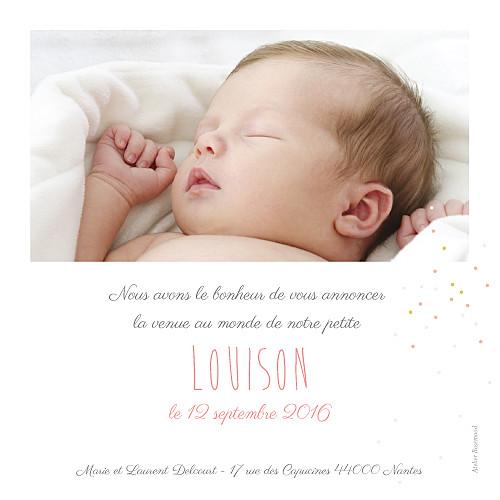 Faire-part de naissance Bucolique photo gris rose - Page 2