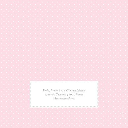 Faire-part de naissance Pois chics (4 pages) rose