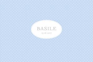 Faire-part de naissance Pois chics paysage (4 pages) bleu