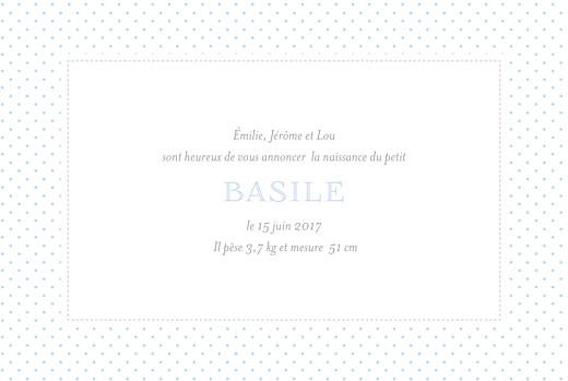 Faire-part de naissance Pois chics paysage (4 pages) bleu - Page 3