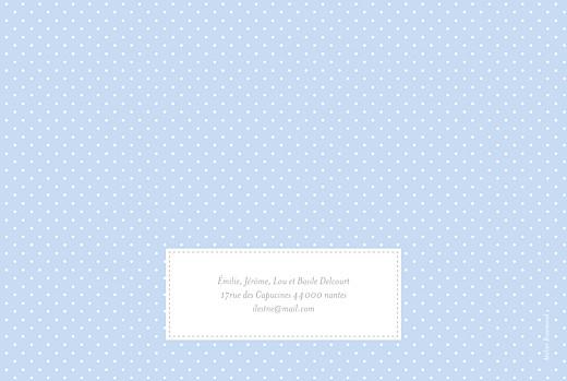Faire-part de naissance Pois chics paysage (4 pages) bleu - Page 4