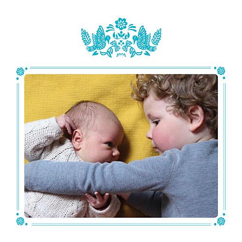 Carte de remerciement Merci papel picado photo turquoise