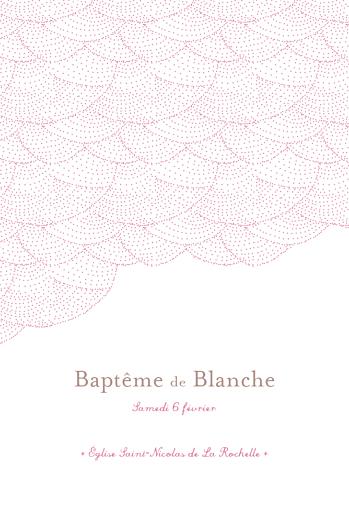 Menu de baptême Délicatesse rose