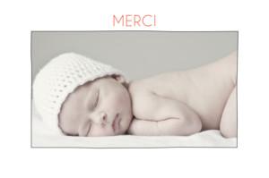 Carte de remerciement Promesse champêtre photo blanc