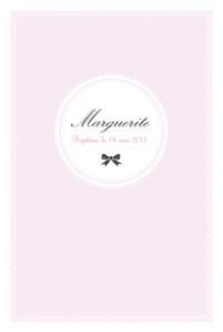 Menu de baptême Versailles rose