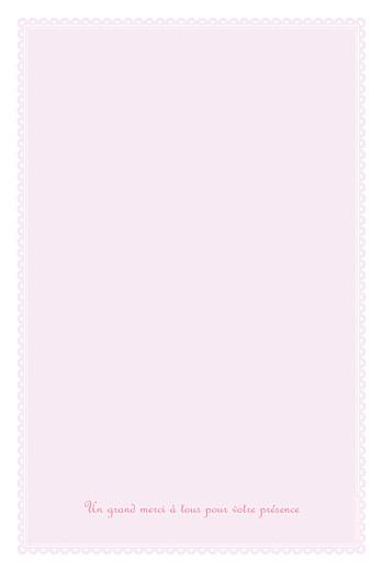 Menu de baptême Versailles rose - Page 4