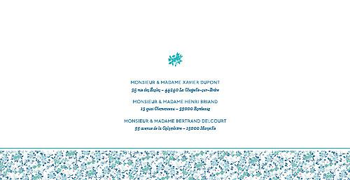 Faire-part de mariage Simplement liberty (pano) bleu - Page 2