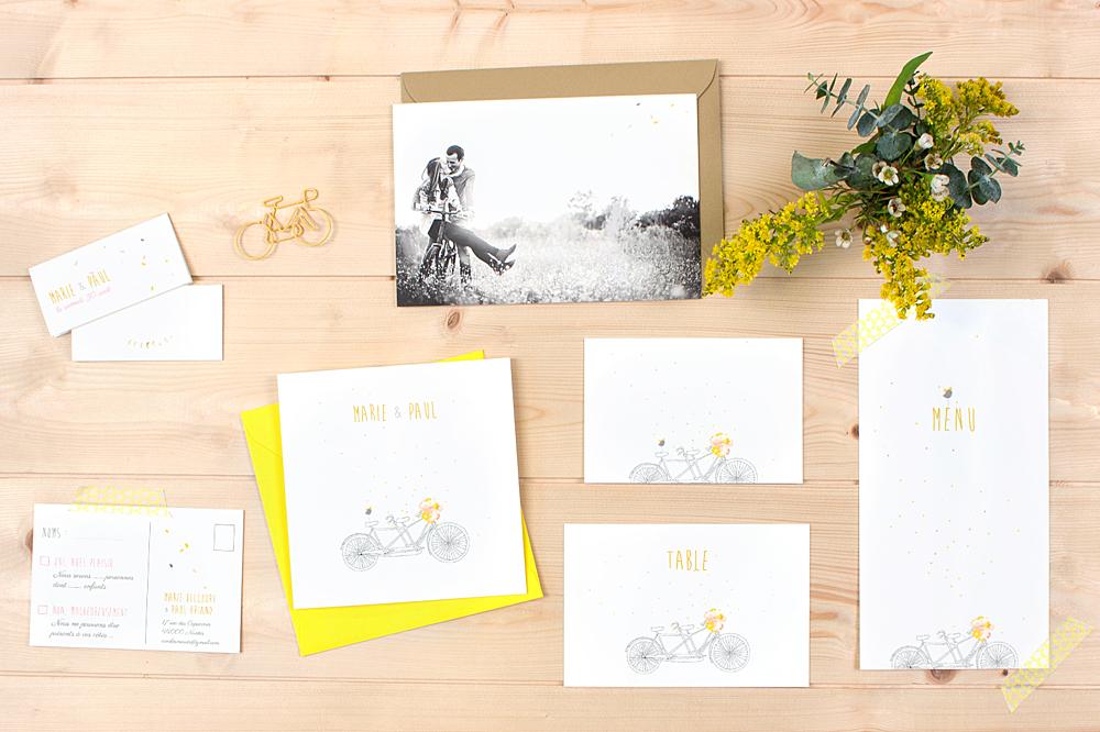 Populaire Faire-part de mariage Tandem - Atelier Rosemood GP59