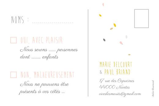 Carton réponse mariage Tandem rose ocre - Page 2