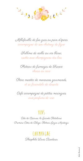 Menu de mariage Tandem rose ocre - Page 2