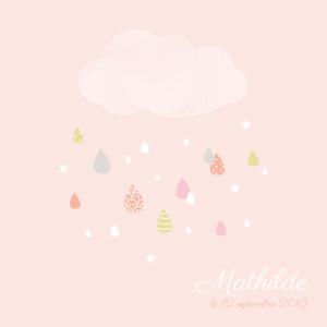 Faire-part de naissance Tombe la pluie rose