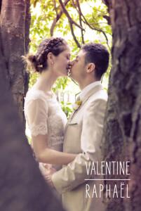 Carte de remerciement mariage Toi & moi (portrait) 3 photos blanc
