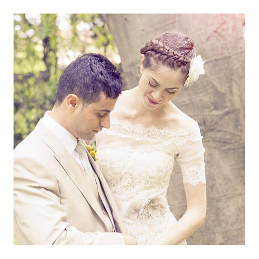 Carte de remerciement mariage Souvenir 6 photos blanc