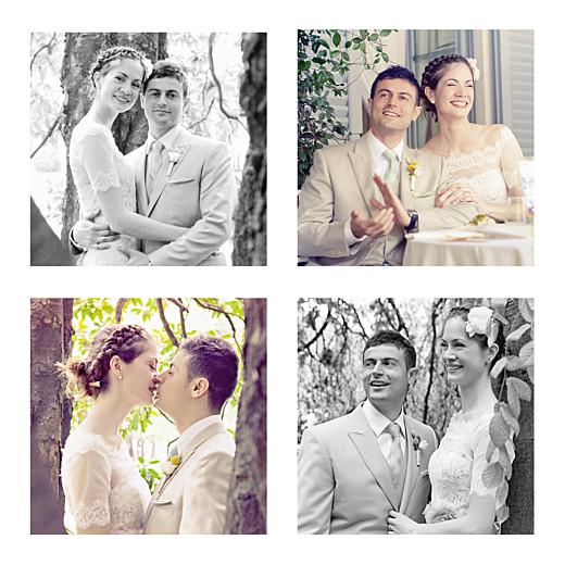 Carte de remerciement mariage Souvenir 6 photos blanc - Page 2