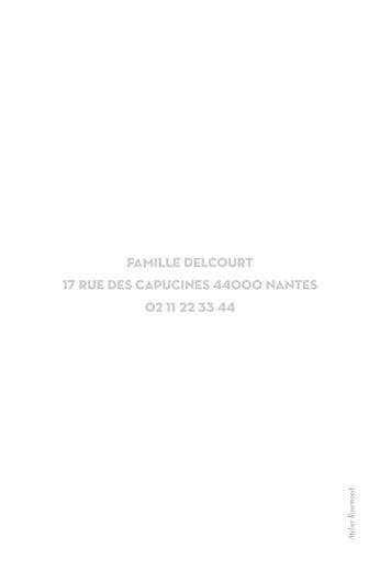 Carte de voeux Petit souvenir blanc - Page 2