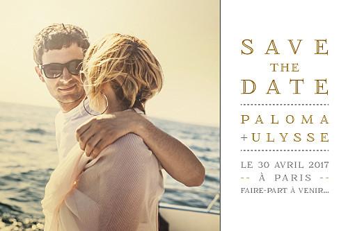 Save the Date La vie est belle ! blanc - Page 1