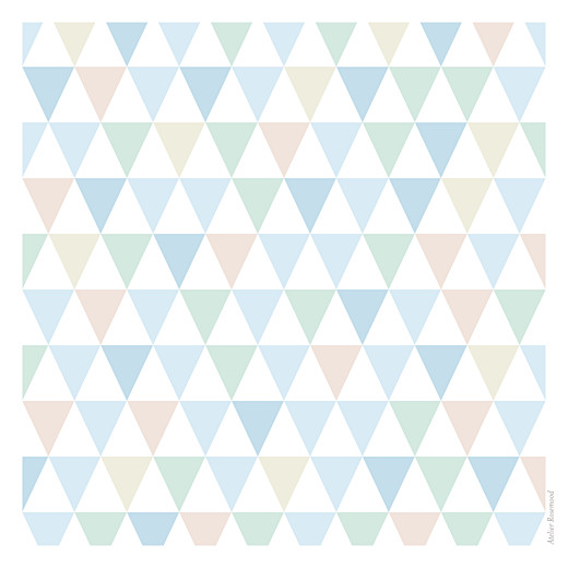 Faire-part de naissance Triangles (3 photos) bleu