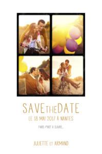 Save the Date 4 photos blanc