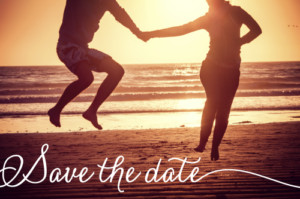 Save the Date Un grand jour (paysage) blanc