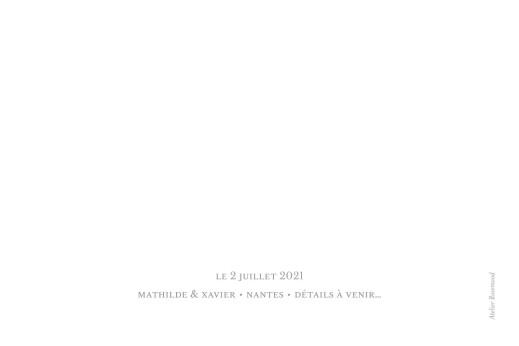 Save the Date Un grand jour (paysage) blanc