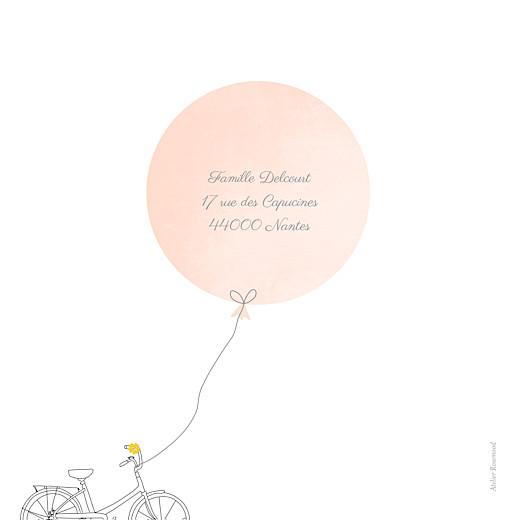 Faire-part de naissance À bicyclette (1 enfant) photos corail - Page 4