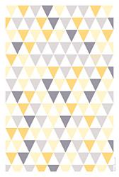 Menu de baptême Triangles jaune violet