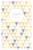 Faire-part de naissance Triangles bilingue (2 photos) jaune violet - Page 1