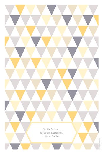 Faire-part de naissance Triangles bilingue (2 photos) jaune violet - Page 4