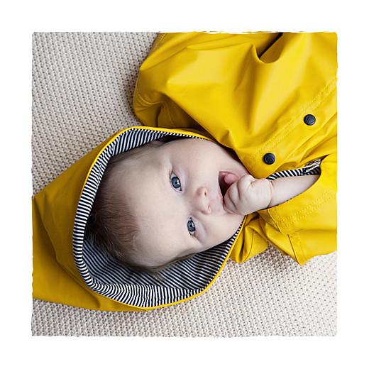Faire-part de naissance Balade (3 enfants) photo fond gris & bottes bébé garçon
