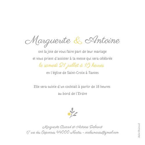 Faire-part de mariage Couronne champêtre blanc ocre - Page 2